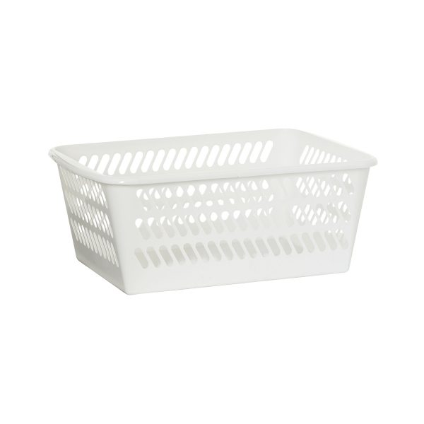 Mini Basket in an extra large size has a classic hole-design. The storage basket is in white color.