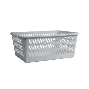 Mini Basket in an extra large size has a classic hole-design. The storage basket is in High Rise color.