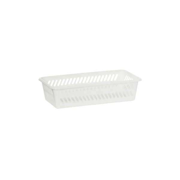 Mini Basket in a small size has a classic hole-design. The storage basket is in white color.
