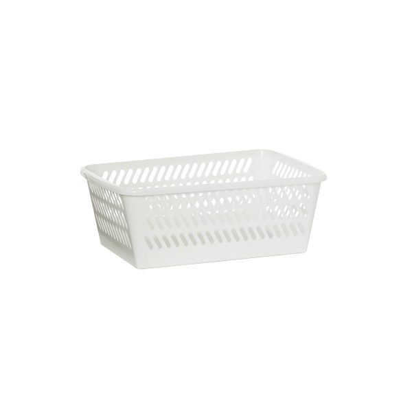 Mini Basket in a large size has a classic hole-design. The storage basket is in white color.