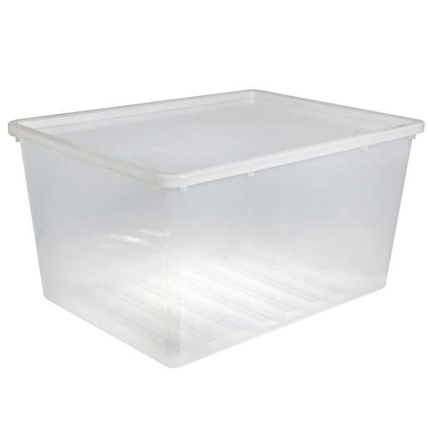 Basic Box 134L extra large storage box made of translucent material which gives a perfect overview of what is inside.