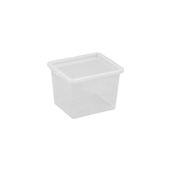 Basic Box 3.5L small storage box made of translucent material which gives a perfect overview of what is inside.