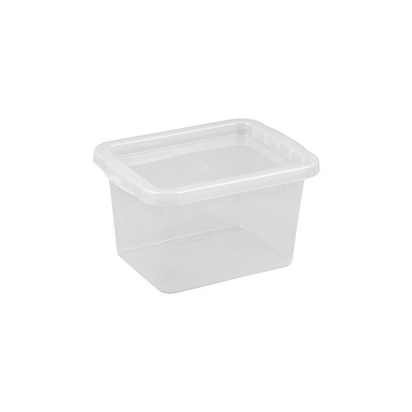 Basic Box 9L storage box made of translucent material which gives a perfect overview of what is inside.