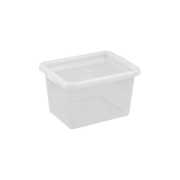 Basic Box 15L storage box made of translucent material which gives a perfect overview of what is inside.