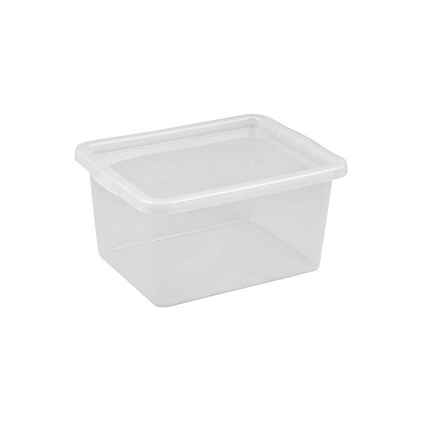 Basic Box 20L storage box made of translucent material which gives a perfect overview of what is inside.