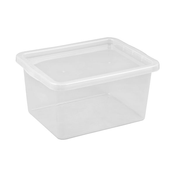 Basic Box 52L storage box made of translucent material which gives a perfect overview of what is inside.