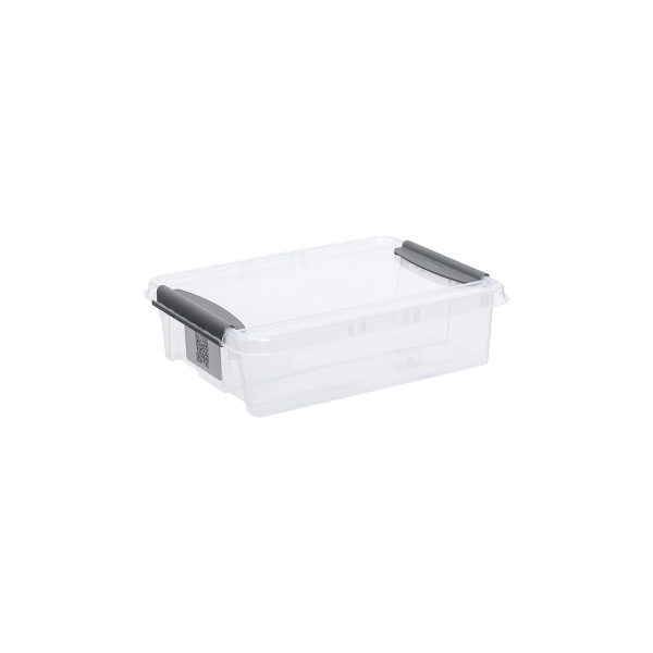 Probox 8L storage box made of translucent material. It is part of premium series of stackable storage solutions with a modern design.