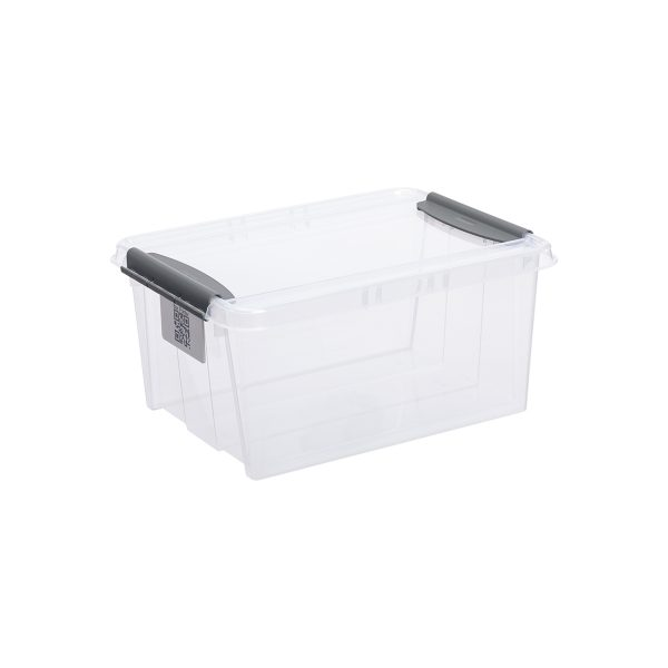 Probox 14L storage box made of translucent material. It is part of premium series of stackable storage solutions with a modern design.