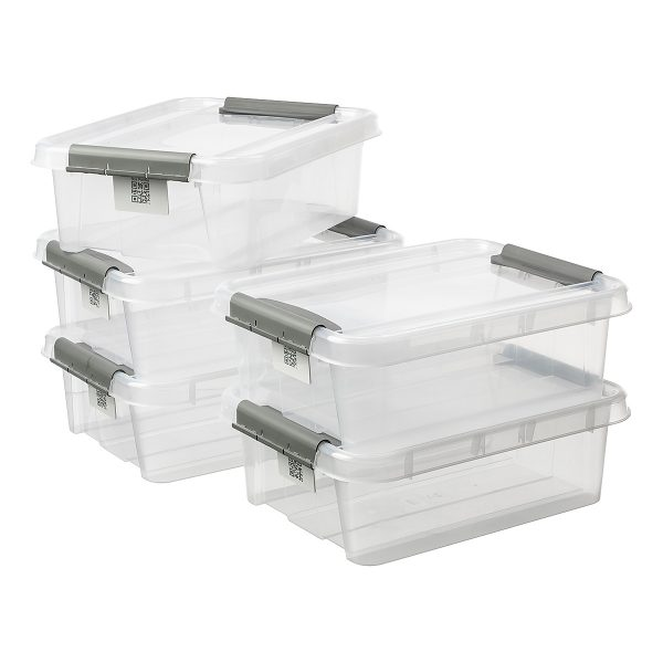Value pack of five 21L Proboxes. Probox is series of premium storage boxes. They are stackable and made of translucent material. All boxes are equipped with QR codes compatible with the BoxPointer app.