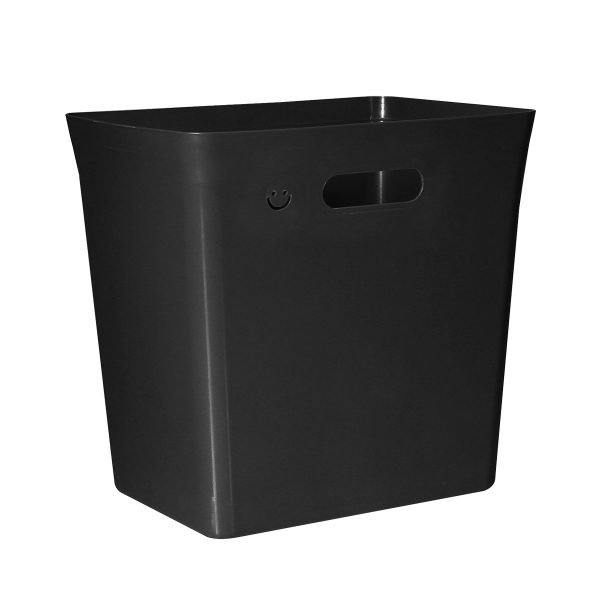 Avedøre 20L rubbish bin which is part of modular waste management system. Bin is in a black color, can be extended with an instert and closed by a lid. Also, there is an option to hang it on bracket.