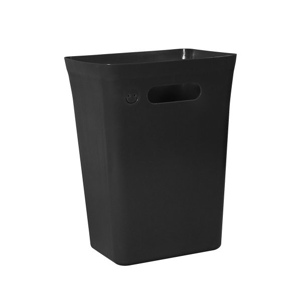 Avedøre 10L rubbish bin which is part of modular waste management system. Bin is in a black color, can be extended with an instert and closed by a lid. Also, there is an option to hang it on bracket.