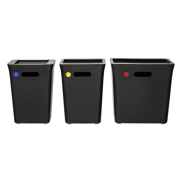Part of Avedøre Value Pack which complete waste management system for home, office, and much more. Set consists 11 elements, including bins, lids, and color dots.