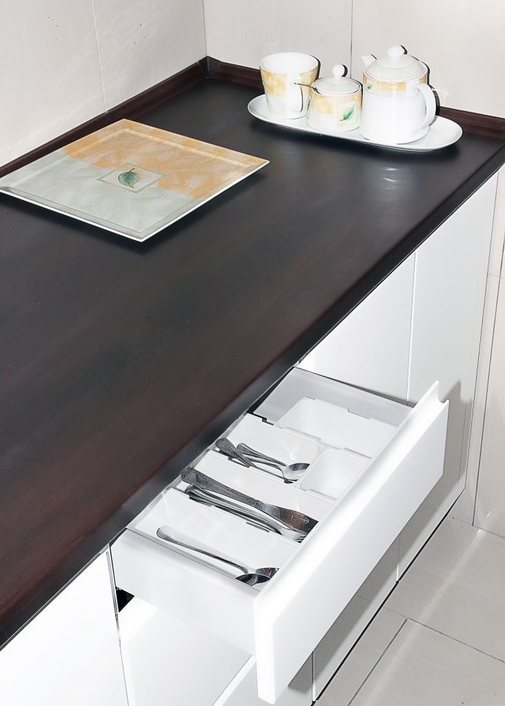Modular drawer organizers allow to find appropriate combination for small as well as bigger drawers.